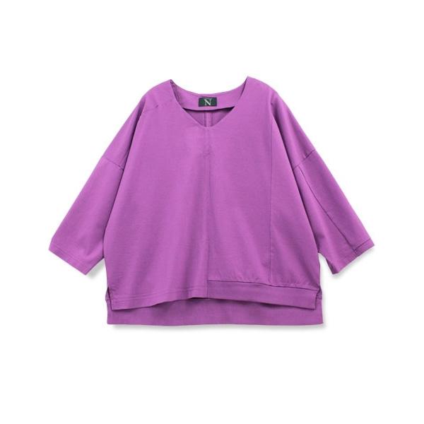 M0626 シルケット天竺リメイクVネックTシャツ