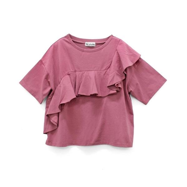 M0634 ローンコンビフリルTシャツ