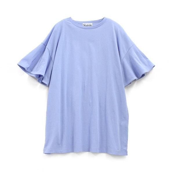 M0699 フレアスリーブクルーTシャツ