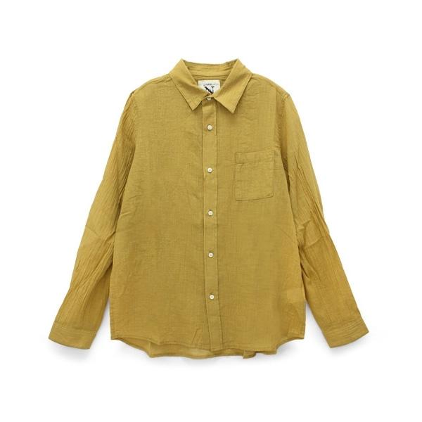 B2334 コットンリネンスラブローンシャツ