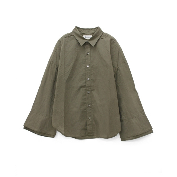 B2342 ベルスリーブデザインシャツ