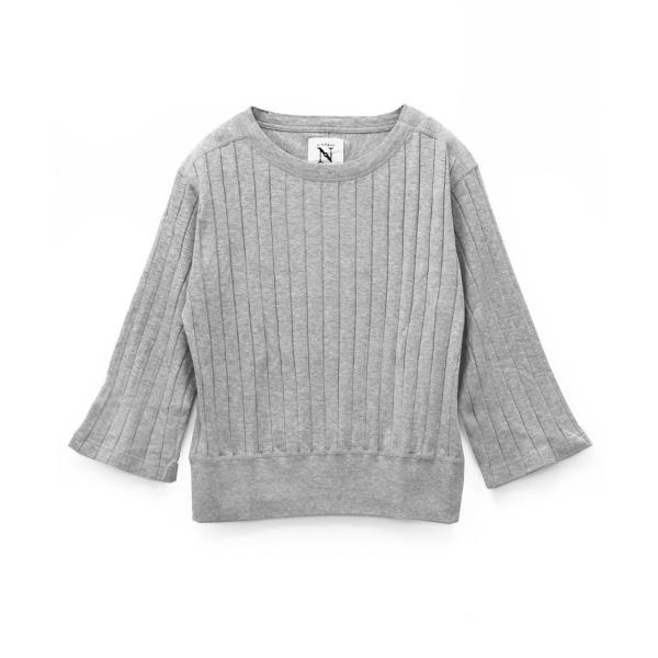 M0757 ワイドリブ クルーネックTシャツ
